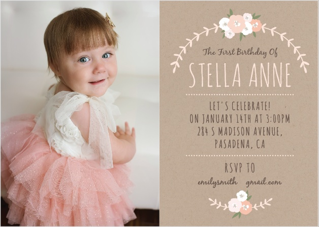 first birthday invitations | 40% off super cute designs - basic invite, Birthday invitations