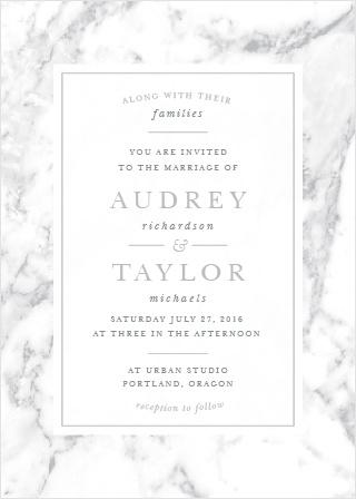 Cool Marble Wedding Invitations