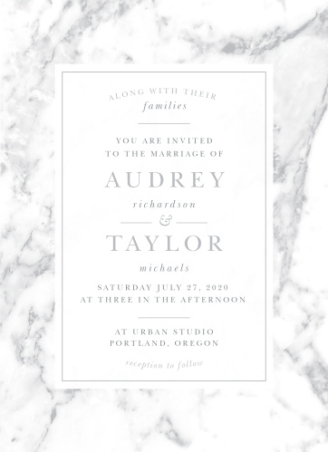 Design invites with the cultivated sophistication of the Cool Marble Wedding Invitations.