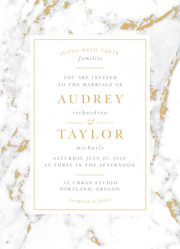 Design invites with the cultivated sophistication of the Cool Marble Foil Wedding Invitations.