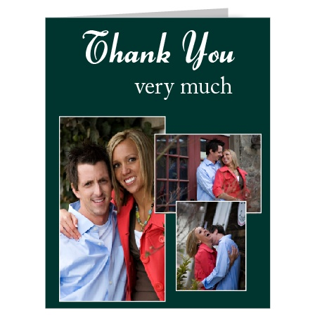 Show your gratitude with this The Stacked Photo photo thank you card!