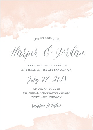 Dip Dye Wedding Invitations