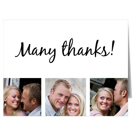 The Opaque Photo Flair thank you card is a great way to thank everyone after your special day!