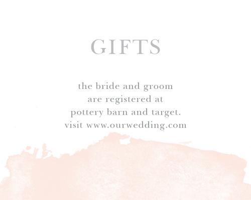 Wedding Gift Registry Website: Customizable Wedding Registry Cards