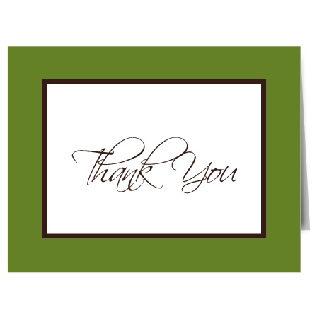 The Initials Square thank you card matches The Initials Square invitation and would be the perfect way to thank your guests!