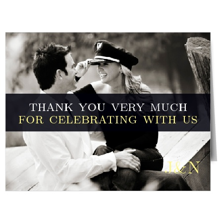 The bold design of The Forever Modern thank you card is a modern, yet sophisticated way to thank your friends and family for their generosity.