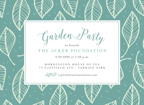 A fun leaf pattern accents your text on the Leafy Celebration Party Invitations.